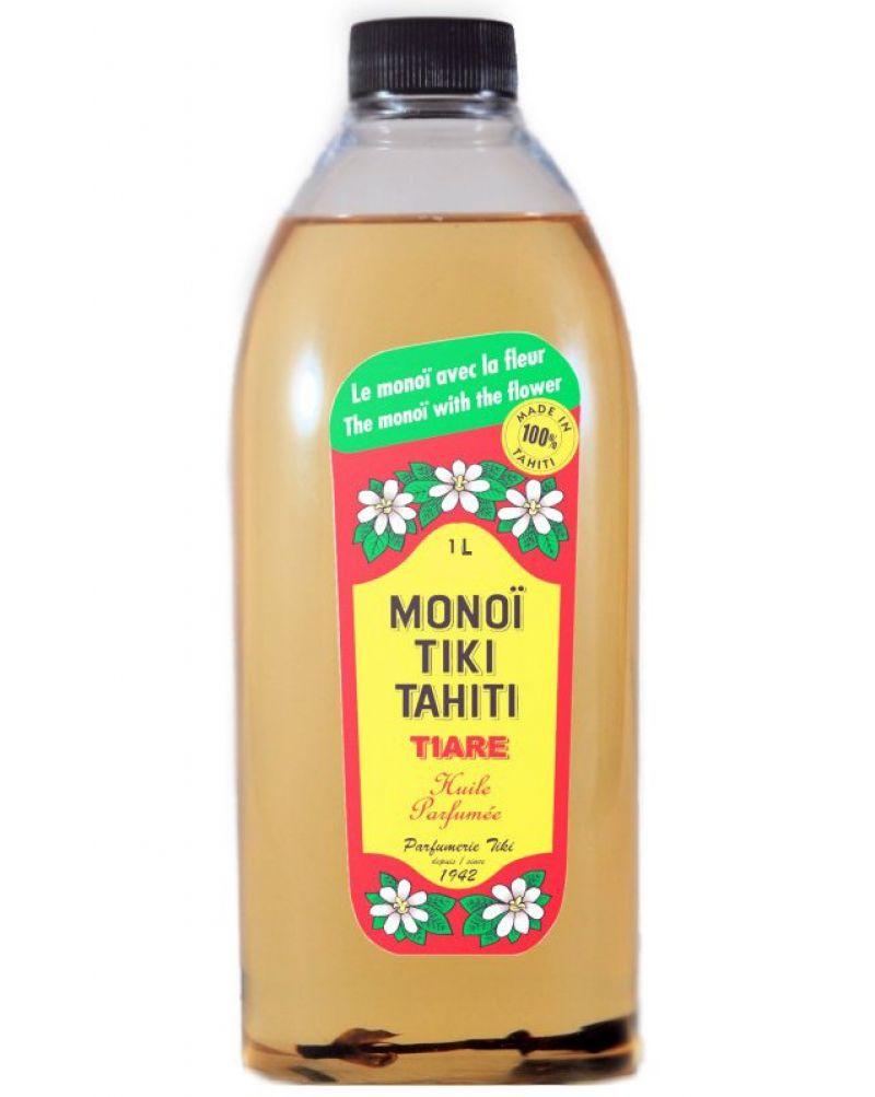 Monoi de Tahiti pro format, tiare blomman - MONOI TIKI TIARE 1L