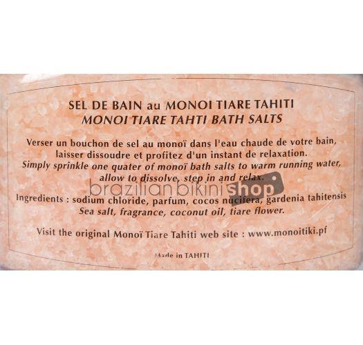 Vanilla and Tahitian tiaré flower scented bath salts - SELS DE BAIN TIKI VANILLE 250g