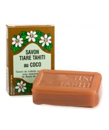 Monoi de Tahiti vegetable soap, coconut fragrance - TIKI SAVON COCO 130g