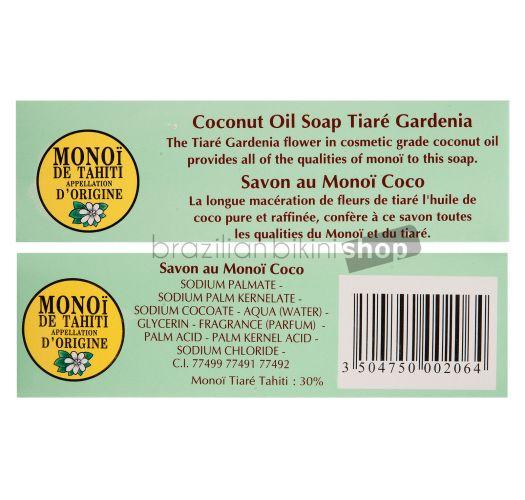 ココナッツの香りのモノイ・デ・タヒチ植物性ソープ - TIKI SAVON COCO 130g