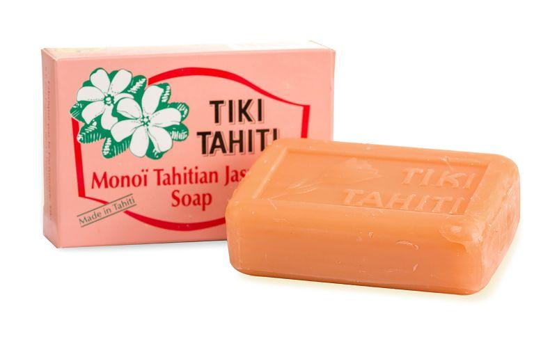100% vegetable soap made with Monoi de Tahiti and pitaté essence - TIKI SAVON PITATE 130g