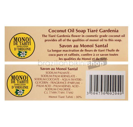 Sapun na biljnoj bazi sa uljem monoi i kokosa, miris sandalovine - TIKI SAVON SANTAL 130g