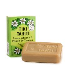 Vegetable soap made with Tamanu and Monoi de Tahiti oils - TIKI SAVON TAMANU 130grs