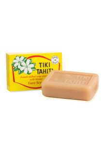 Tairé flower scented vegetable soap with 2% monoi -  TIKI SAVON TIARE 130g
