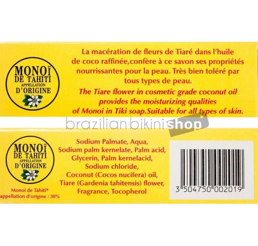 Biljni sapun sa mirisom cveta tiare sa 2% ulja monoi -  TIKI SAVON TIARE 130g