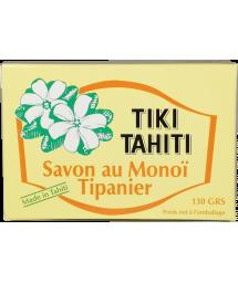 Naturseife mit 30% Monoi de Tahiti, Frangipani-Duft - TIKI SAVON TIPANIER 130 GR