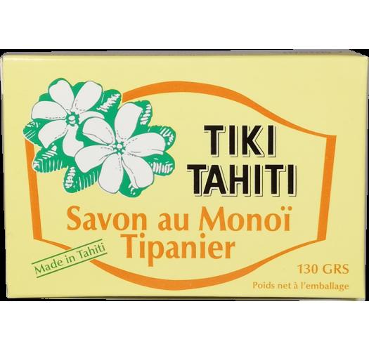 Vegetable soap with 30% Tahitian monoi, tipan scent - TIKI SAVON TIPANIER 130 GR