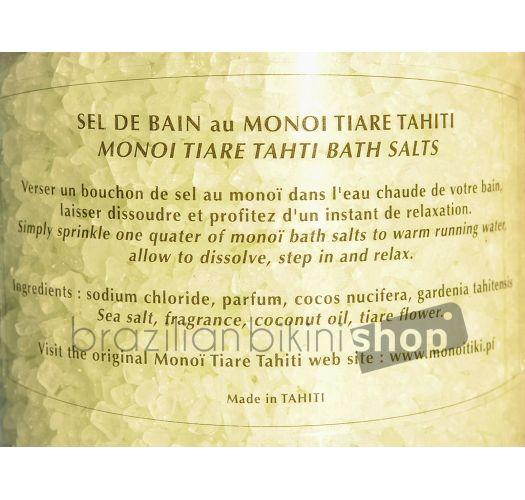 Sali da bagno al profumo dei fiori di Tiaré - TIKI SEL DE BAIN TIARE 125g