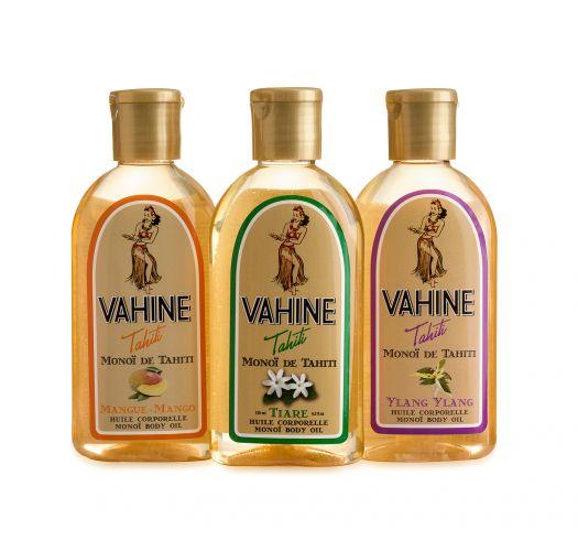 Set of monoi fragrances: tiaré  mango, ylang-ylang - PACK MONOI LIBERTY