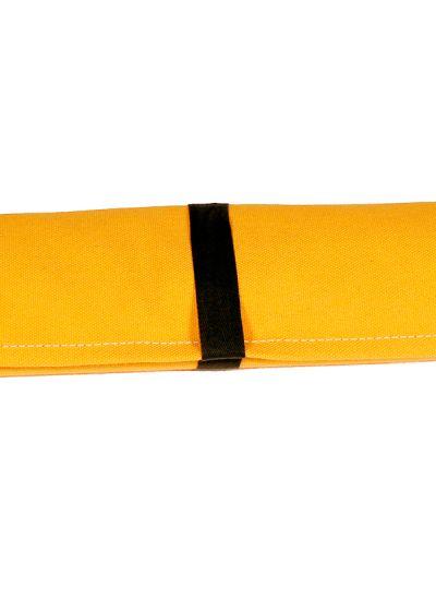 Yellow canvas and pine deckchair, measuring 140x70cm - NEO TRANSAT AMARELO