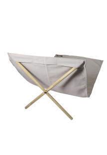 Beige canvas and pine deckchair, measuring 140x70cm - NEO TRANSAT CREAM