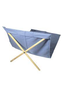 Blå fluktstol av stoff og furu, 140x70 cm - NEO TRANSAT JEAN