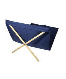 Navy blue canvas and pine deckchair, measuring 140x70cm - NEO TRANSAT MARINHO