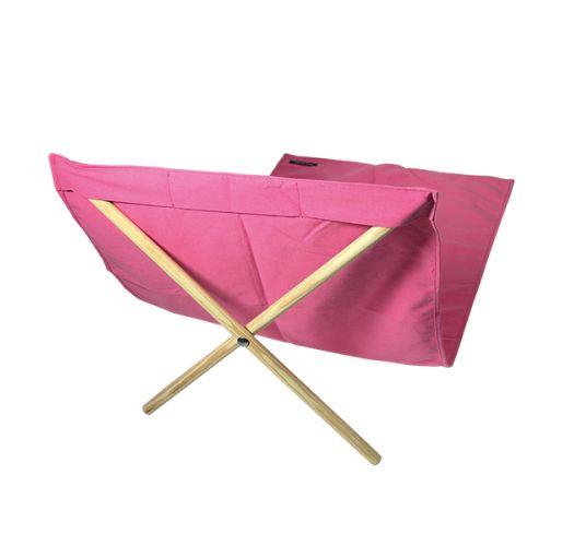 Pink canvas and pine deckchair, measuring 140x70cm - NEO TRANSAT ROSA
