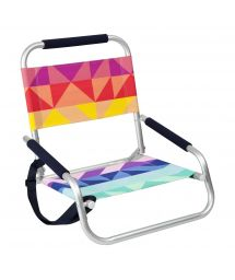 Colorful geometric folding beach chair - BEACH SEAT MONTEBELLO
