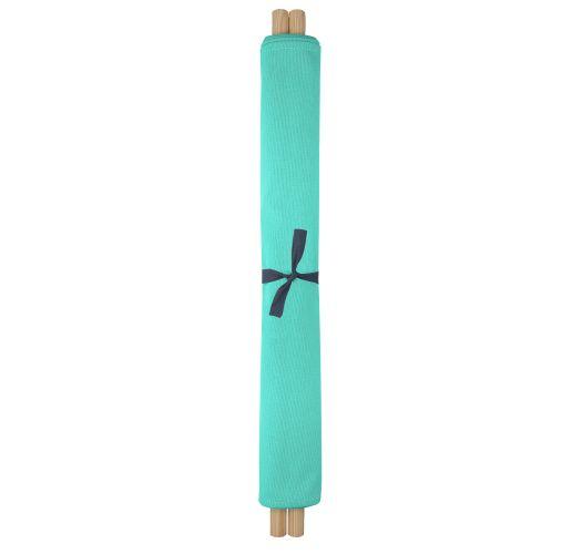 Transat vert émeraude en toile et pin, 140x70cm - NEO TRANSAT VERT EMERAUDE