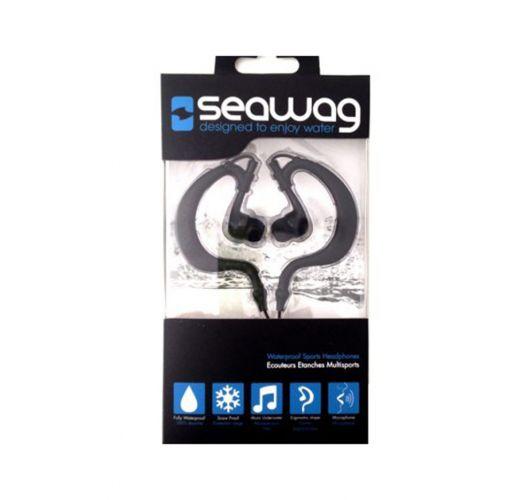 100% waterproof earphones with integrated microphone - SEAWAG BLACK WATERPROOF EARPHONES