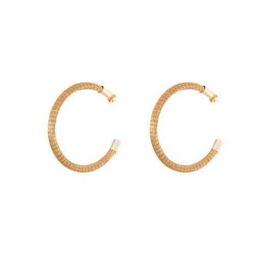 Capim dourado 4 cm Creole earrings - ARGOLA DOURADA