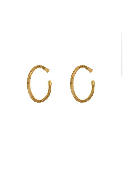 Creole guldfärgade örhängen - ARGOLA DOURADA GRANDE