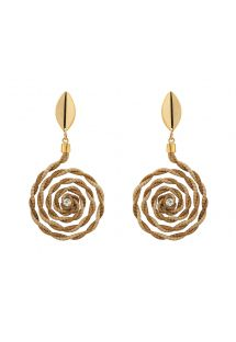Twisted spiral earrings with rhinestone - ELLA