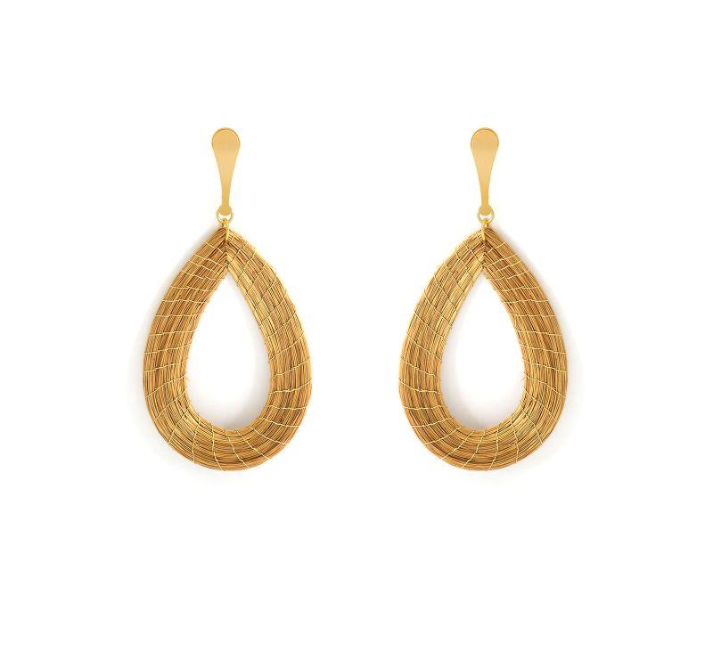 Creole gulddropps örhängen - VAZADA