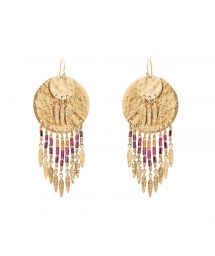 Gold beaded earrings - HIPANEMA PACOME GOLD