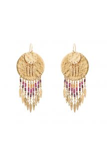 Gold beaded earrings - HIPANEMA PACOME GOLD