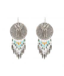 Silver beaded earrings - HIPANEMA PACOME SILVER