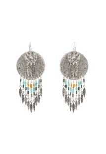 Silver beaded earrings - HIPANEMA PACOME SILVER