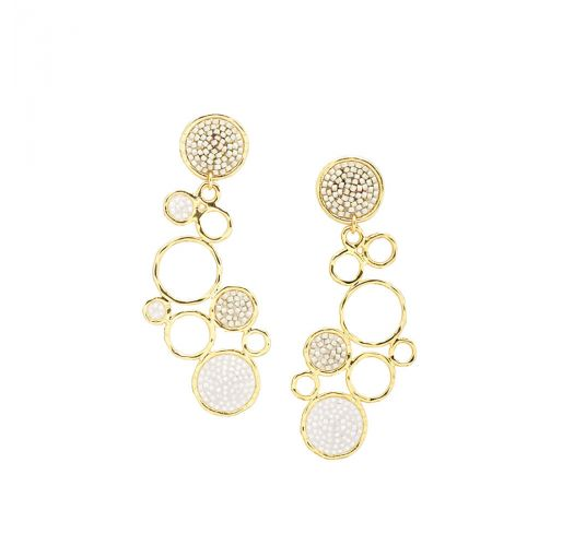 BUBBLE EARRING-GP-L-7674