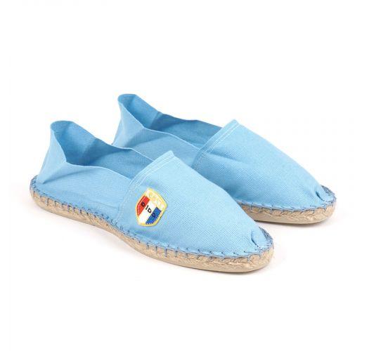 Organic cotton light blue espadrilles - CLASSIQUE 1 - Ciel