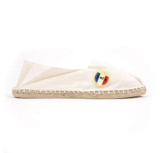 Organic cotton ecru espadrilles - CLASSIQUE 1 - Ecru