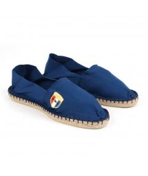 Organic cotton navy blue espadrilles - CLASSIQUE 1 - Indigo