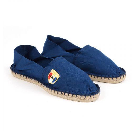 נעלי אספדריל מכותנת ביו בצבע כחול כהה - מיוצרות בצרפת - CLASSIQUE 1 - Indigo