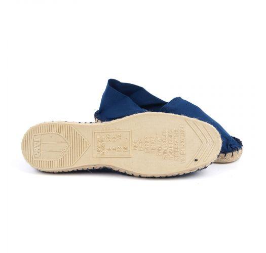Marineblaue Espadrilles aus Bio-Baumwolle - CLASSIQUE 1 - Indigo