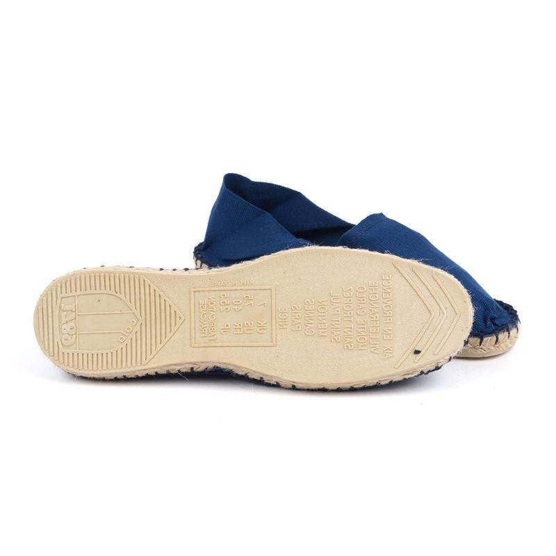 Biobomull marinblå espadrillos - Tillverkade i Frankrike - CLASSIQUE 1 - Indigo