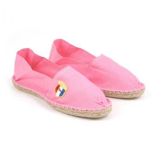 נעלי אספדריל מכותנת ביו בצבע ורוד - מיוצרות בצרפת - CLASSIQUE 1 - Malabar