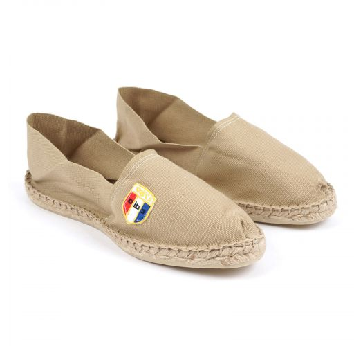 Espadrilles sable en coton bio - Made in France - CLASSIQUE 1 - Sable