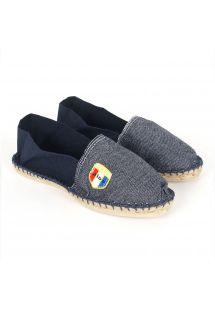 Øko-bomulls jeans/marineblå epadriller - CLASSIQUE 2 - Jean Marine