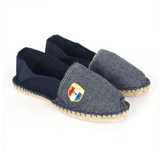 Organic cotton jeans / navy blue espadrilles - CLASSIQUE 2 - Jean Marine