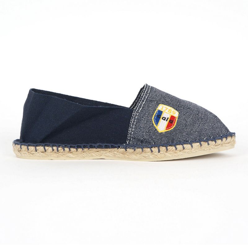 Bio bomull jeans / marinblå espadrillos - CLASSIQUE 2 - Jean Marine