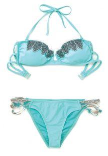 Раздельный купальник-бандо небесно-голубого цвета отAmenapih - ABBYSWIM TURQUOISE
