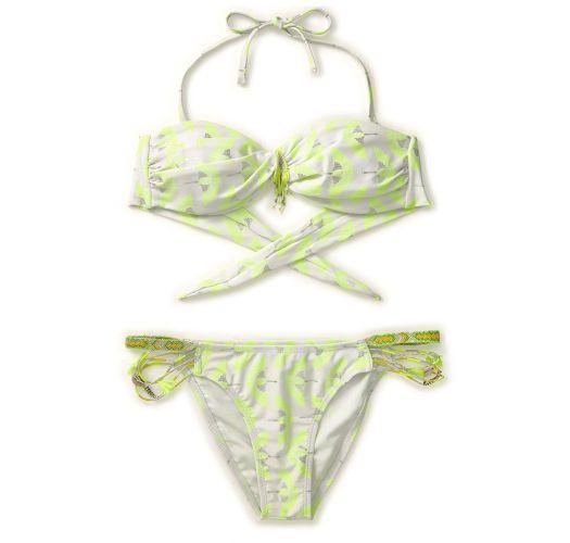 Selvlysende gul Amenapih bandeau bikini - OSIRISWIM YELLOW