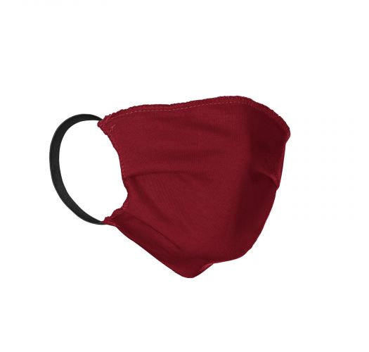 Red cotton barrier mask with filter pocket - FACE MASK BBS19 - FILTER POCKET