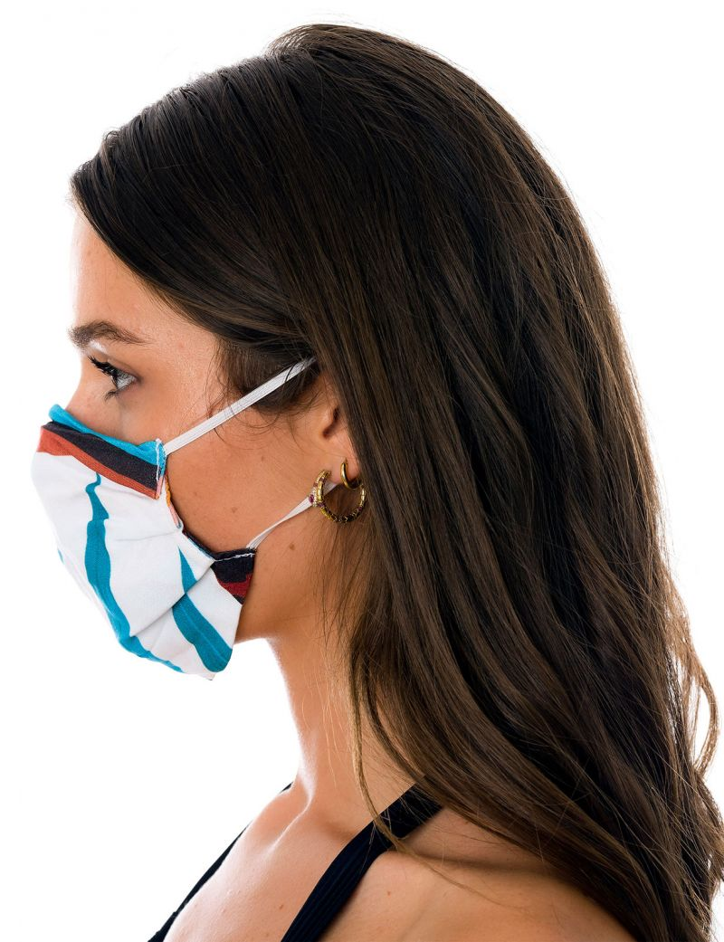Masque tissu réutilisable 3 plis tropical rose - FACE MASK BBS29