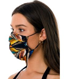 Reusable 3-ply tropical print fabric mask - FACE MASK BBS31