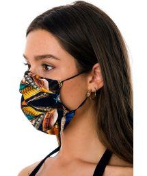 3-lagige Mehrweg-Stoffmaske mit Tropenprint - FACE MASK BBS31
