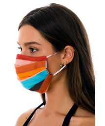 Reusable 3-ply colored stripes fabric mask - FACE MASK BBS32