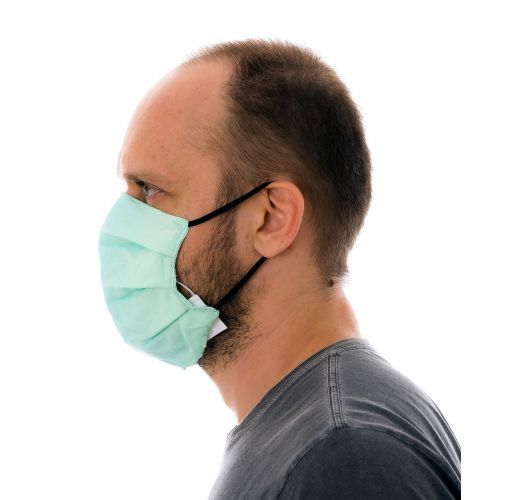 Green gradient 3 ply reusable fabric mask - FACE MASK BBS35