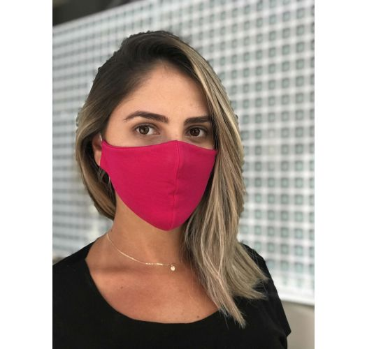 Washable pink fuchsia barrier mask - FACE MASK BBS03